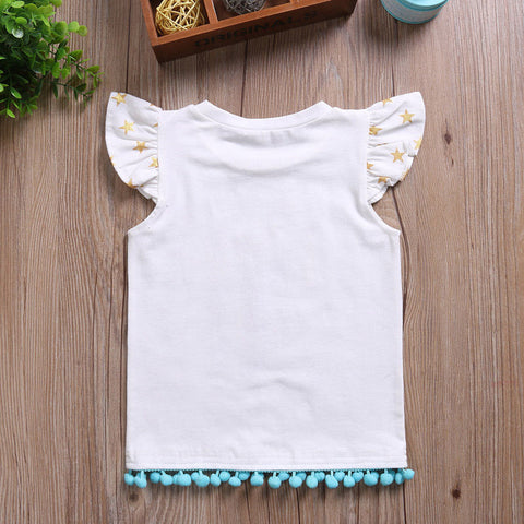 a906e9c1ab2e4 ... Image of Baby Girls T-shirt Kids Unicorn Matching sets ...