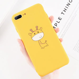 Cute Cartoon Giraffe Soft iPhone Case
