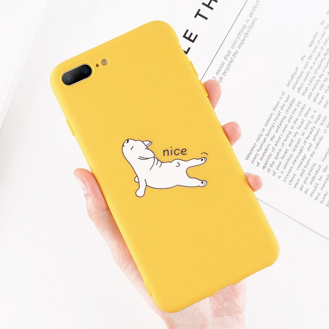 Funny/Cute Cartoon Dog Soft iPhone Case