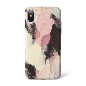Glow in the Dark Abstract Oil Painting iPhone Case