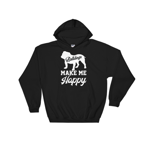 Bulldogs make me Happy - Hoodie