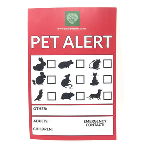 Emergency Alert Sticker, Small Animal Supplies:Smallpetselect