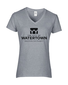City of Watertown Ladies V-Neck T-Shirt