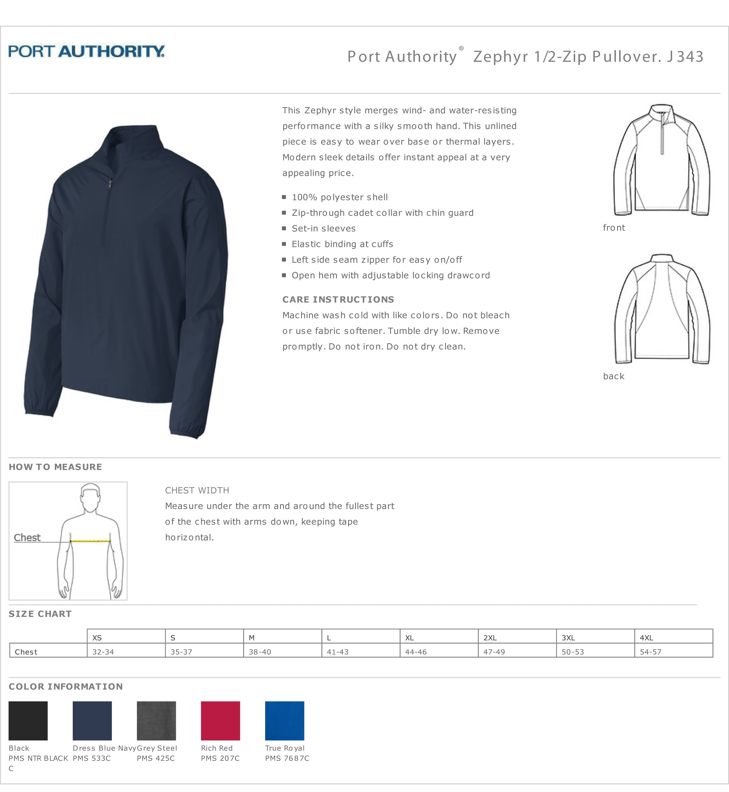 City of Watertown 1/2-Zip Pullover