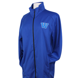 Royal W w/ White Outline Soft Shell Jacket (J717)