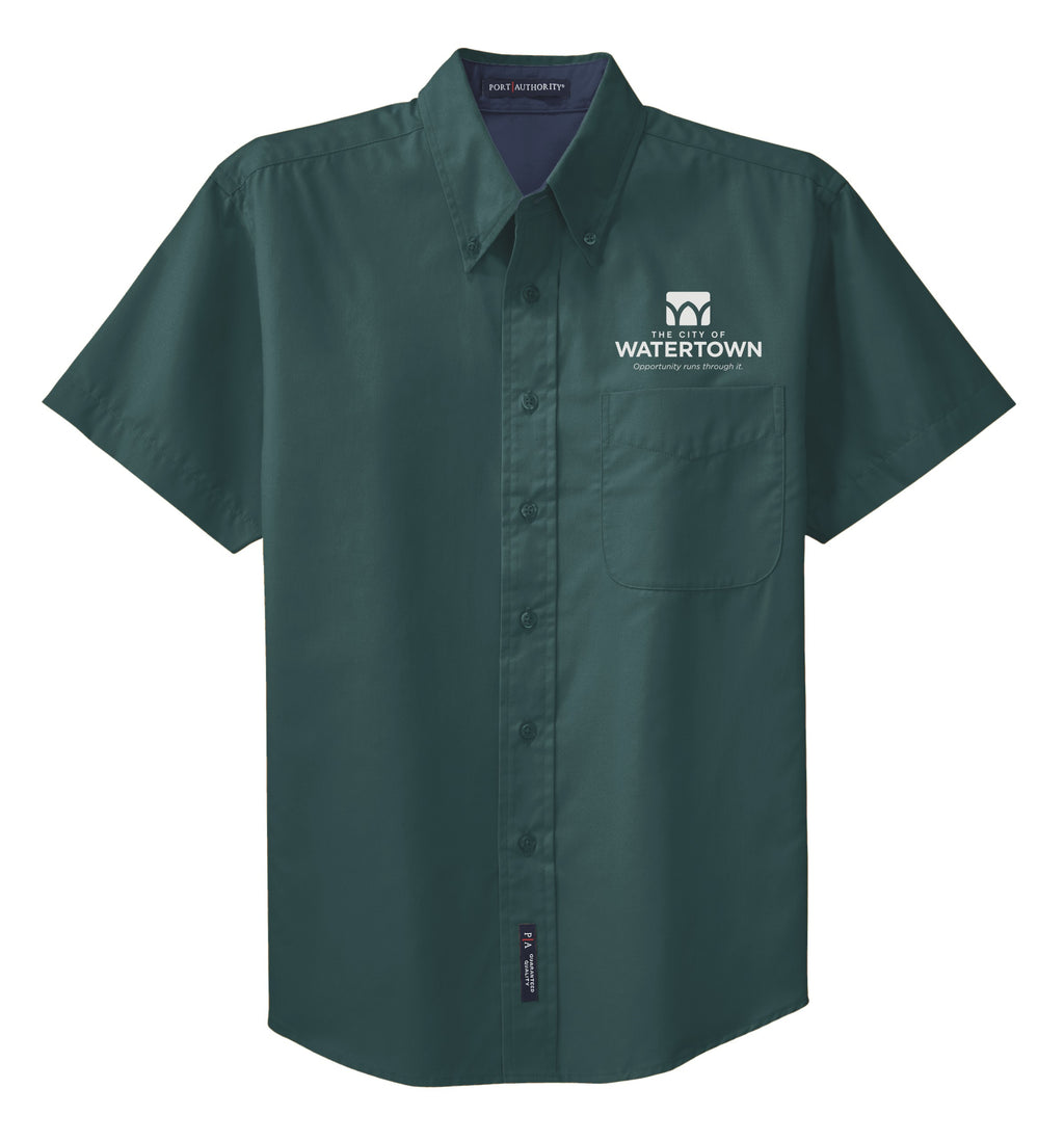 City of Watertown Mens Short Sleeve Easy Care Shirt