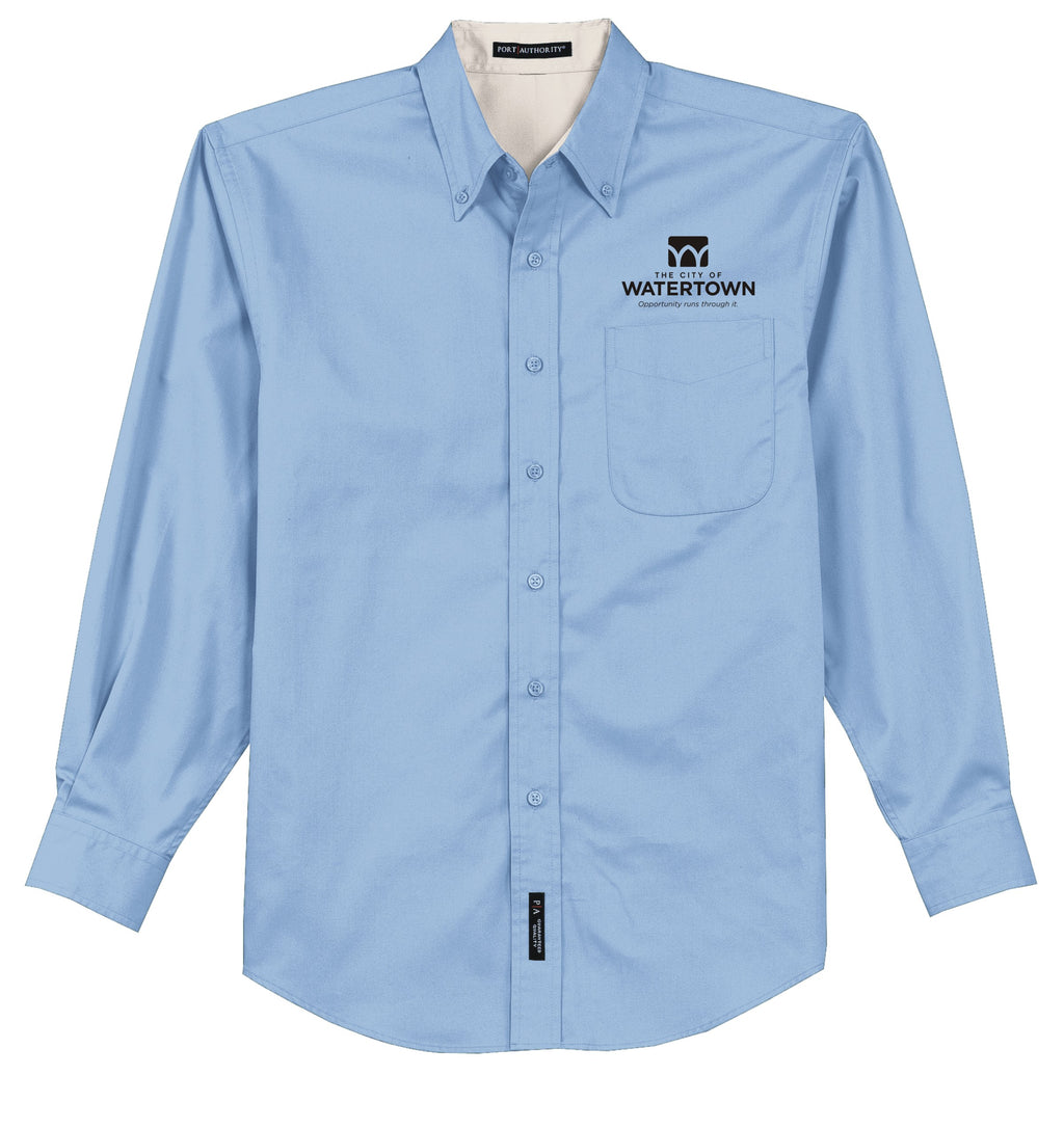 City of Watertown Mens Long Sleeve Easy Care Shirt