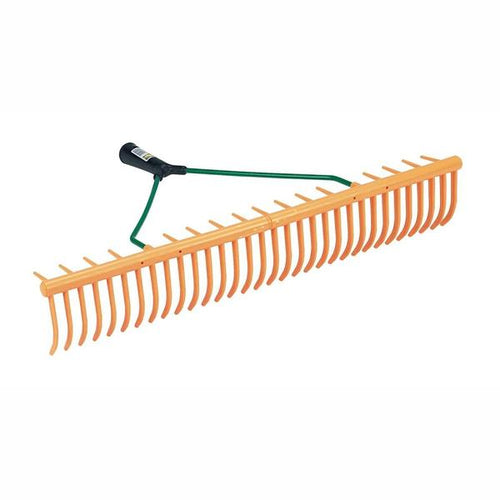 Grass and leaf rake heavy duty 32 tines and grass catcher
