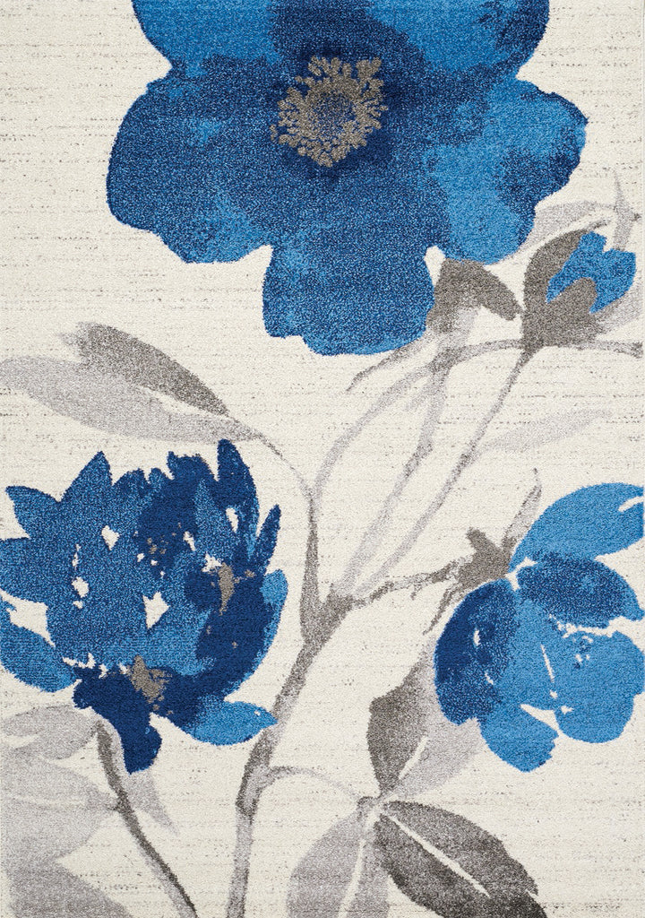 Camino Blue Floral Rug