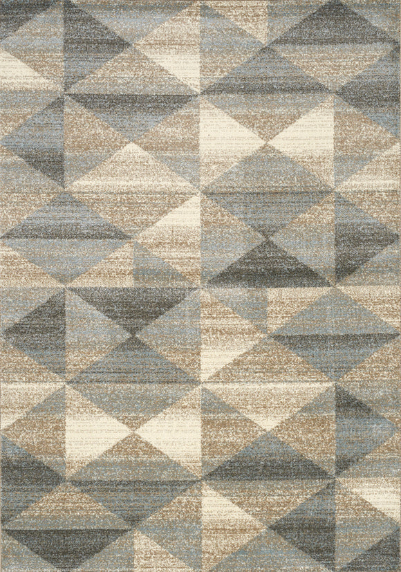 Casa Grey, Taupe Quilt Rug
