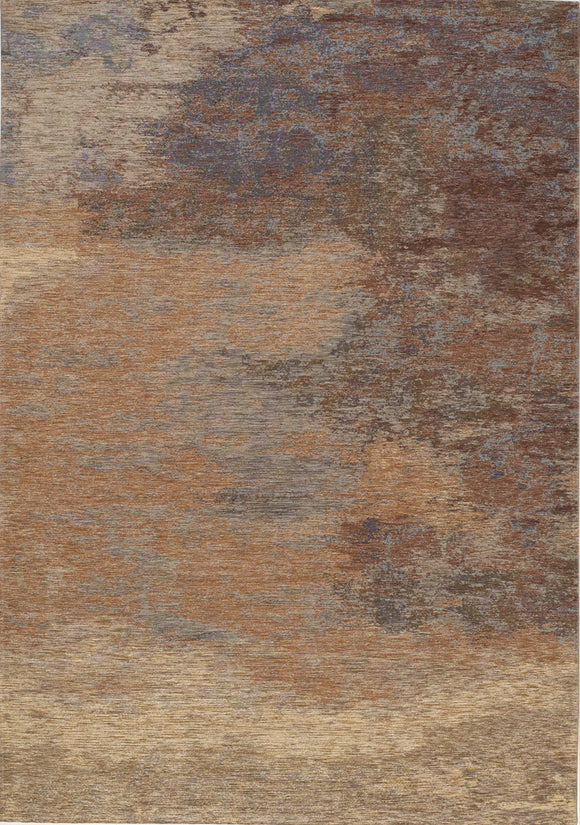 Cathedral Beige Red Distressed Cloud Rug