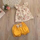 Floral Blouse and Shorts Set