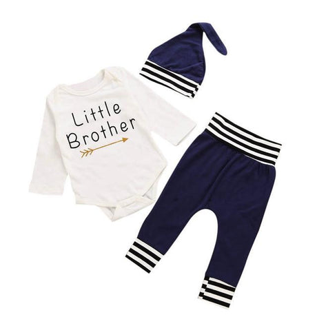 'Little Brother' Navy 3 Piece Set