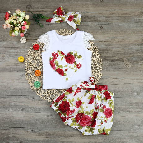 Rose Bloomer 3 Piece Set