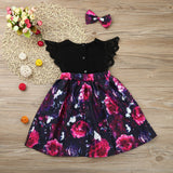 Floral Pleated Dress 2 Piece Set