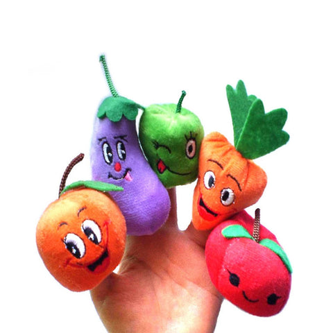 Set of 10 Fruit and Vegetable Finger Puppets