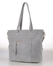 GRAY JOURNEY TOTE