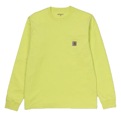 LONG SLEEVE POCKET T-SHIRT | LIME
