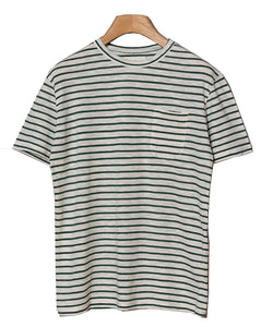 GUERREIRO T SHIRT | GREEN STRIPES