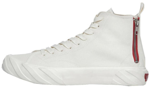A.G.E. TOP SNEAKER WITH ZIP DETAIL | WHITE