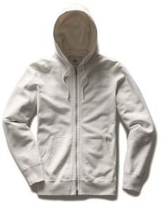 FULL ZIP HOODIE MENS OFF-WHITE | LIGHTWEIGHT TERRY REGULAR PRICE $165.00 USD