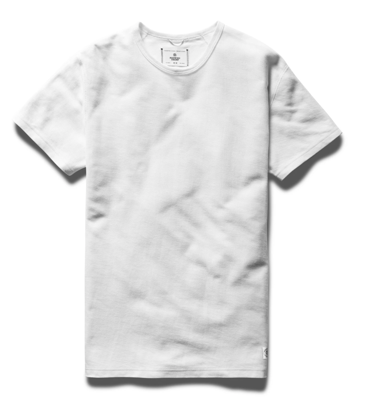 T-SHIRT MENS WHITE | REVERSE TWILL TERRY