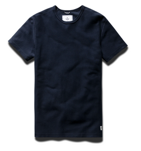 T-SHIRT MENS NAVY | REVERSE TWILL TERRY
