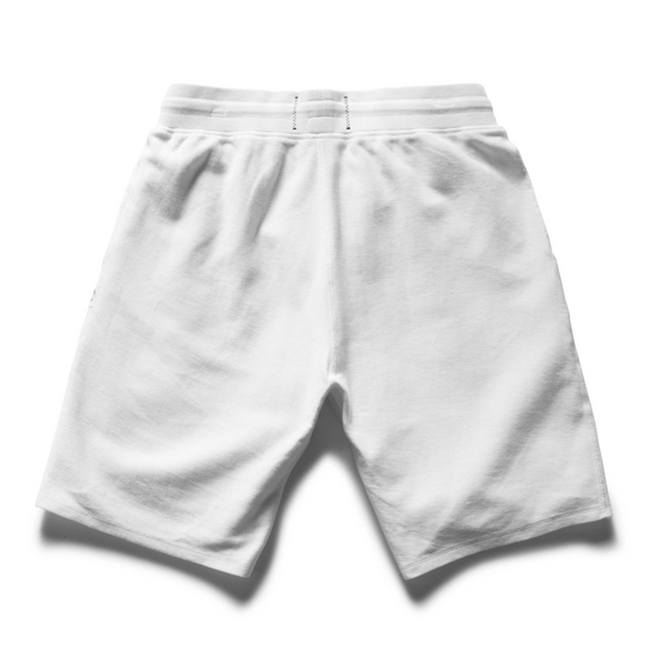 SHORT MENS WHITE | REVERSE TWILL TERRY