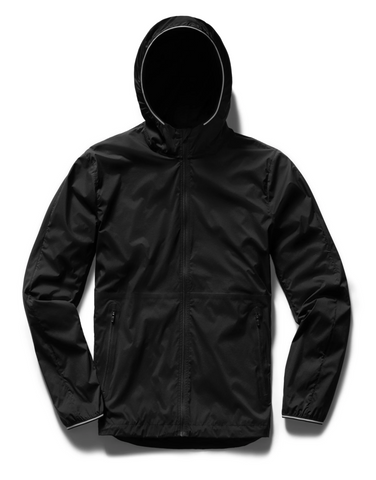 RUNNING JACKET MENS BLACK | MICRO RIPSTOP NYLON