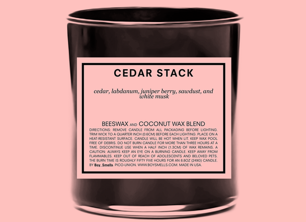 Cedar Stack Scented Candle