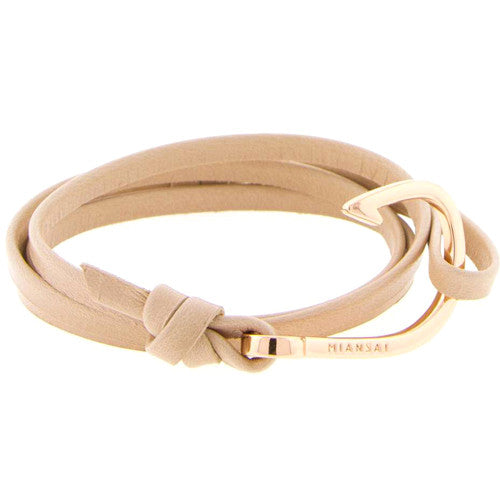 ROSE GOLD PLATED HOOK LEATHER