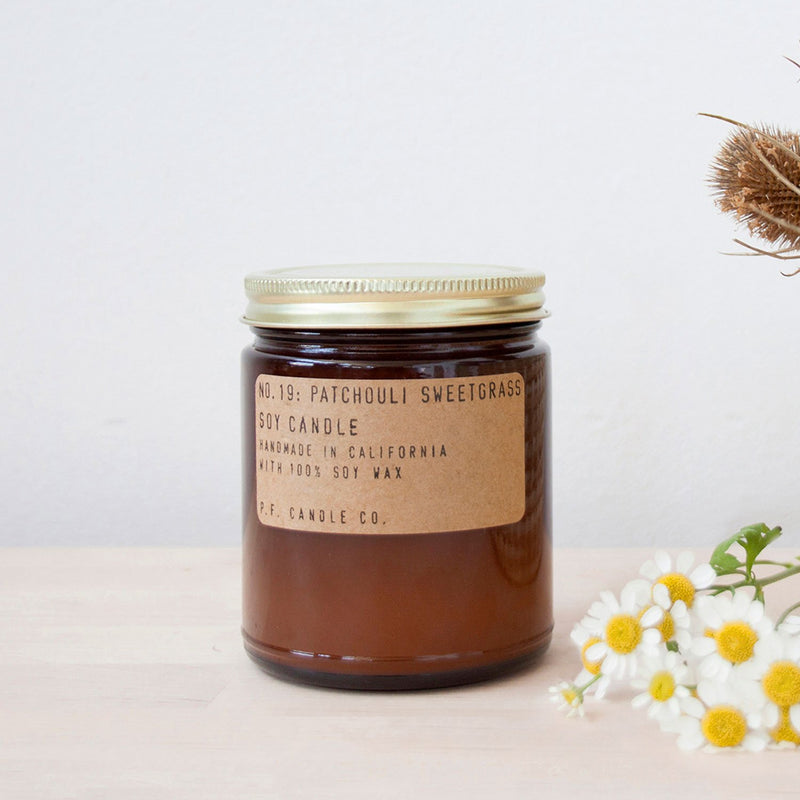 Patchouli Sweetgrass | Soy Wax Candle | The Happy Goods Co.
