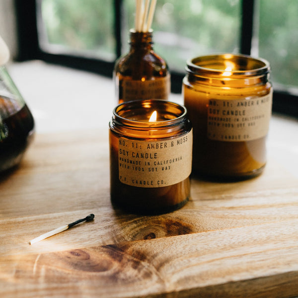 Amber & Moss | Soy Wax Candle | The Happy Goods Co.