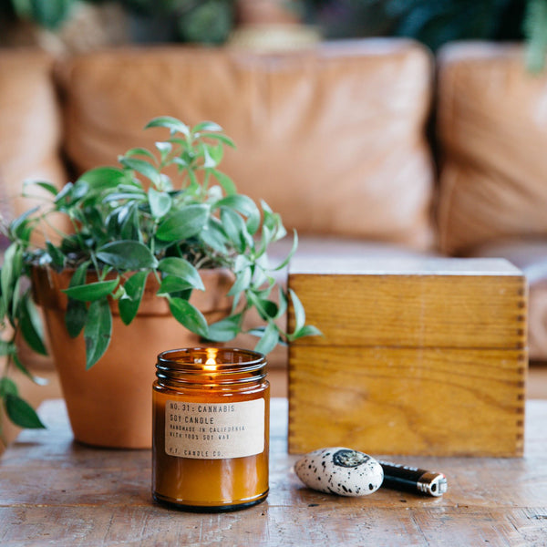 Cannabis | Soy Wax Candle | The Happy Goods Co.