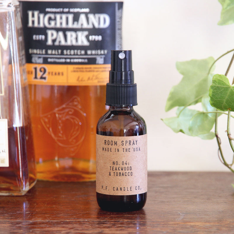 Teakwood & Tobacco Room Spray | Room Spray | The Happy Goods Co.