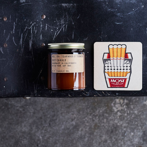 Teakwood & Tobacco | Soy Wax Candle | The Happy Goods Co.