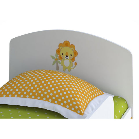 Kinderbett - Polini Kids Jugendbett Kinderbett Basic Jungle Weiß-orange, 1186-1