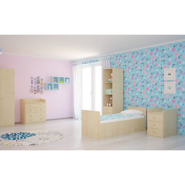 Kinderbett - Polini Kids Kombi-Kinderbett Simple 1000 Mit Kommode Natur, 1226.30