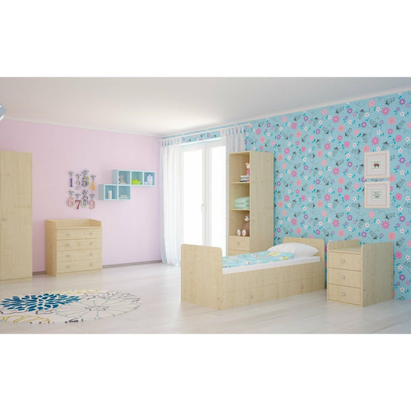Kinderbett - Polini Kids Kombi-Kinderbett Simple 1100 Mit Kommode Natur, 1227.30