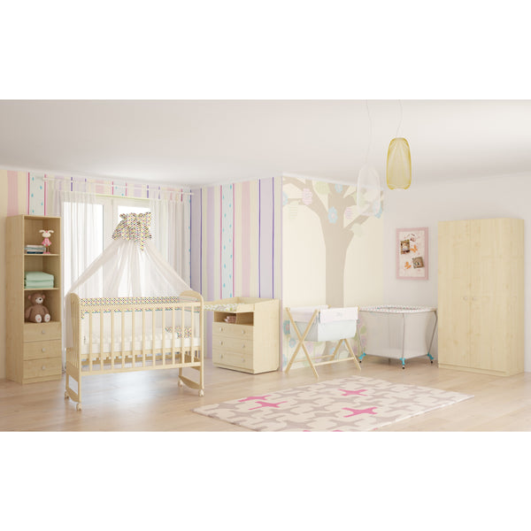 Kinderbett - Polini Kids Simple 323 Kinderbett Natur Aus Birkenholz, 3023
