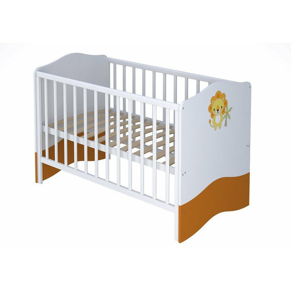 S - Polini Kids Kinderzimmer Weiß-orange Funny Jungle Größe S, 7344