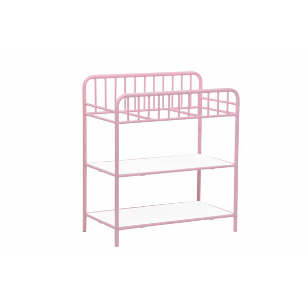 Wickeltisch - Polini Kids Baby Wickeltisch Wickelstation Wickelregal Vintage Rosa