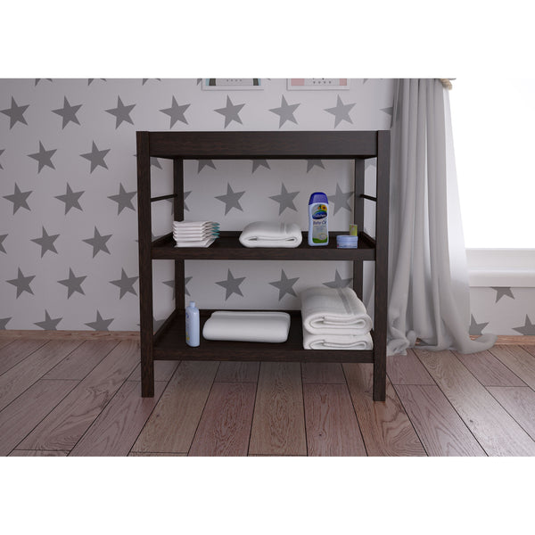 Wickeltisch - Polini Kids Baby Wickeltisch Wickelstation Wickelregal Wenge, 3049-05