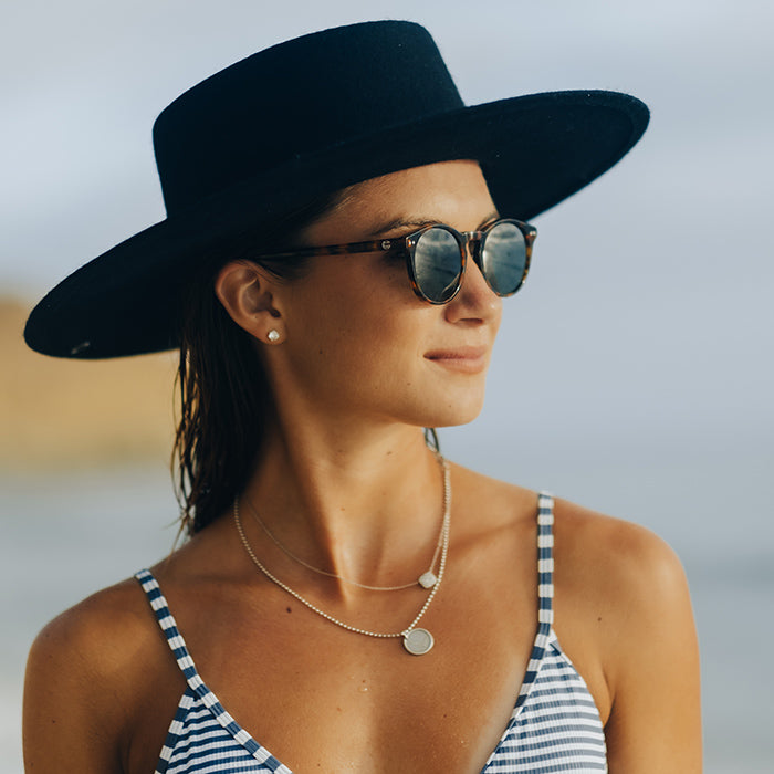 Girl Wearing Sala Verde Ocean Friendly Sunglasses