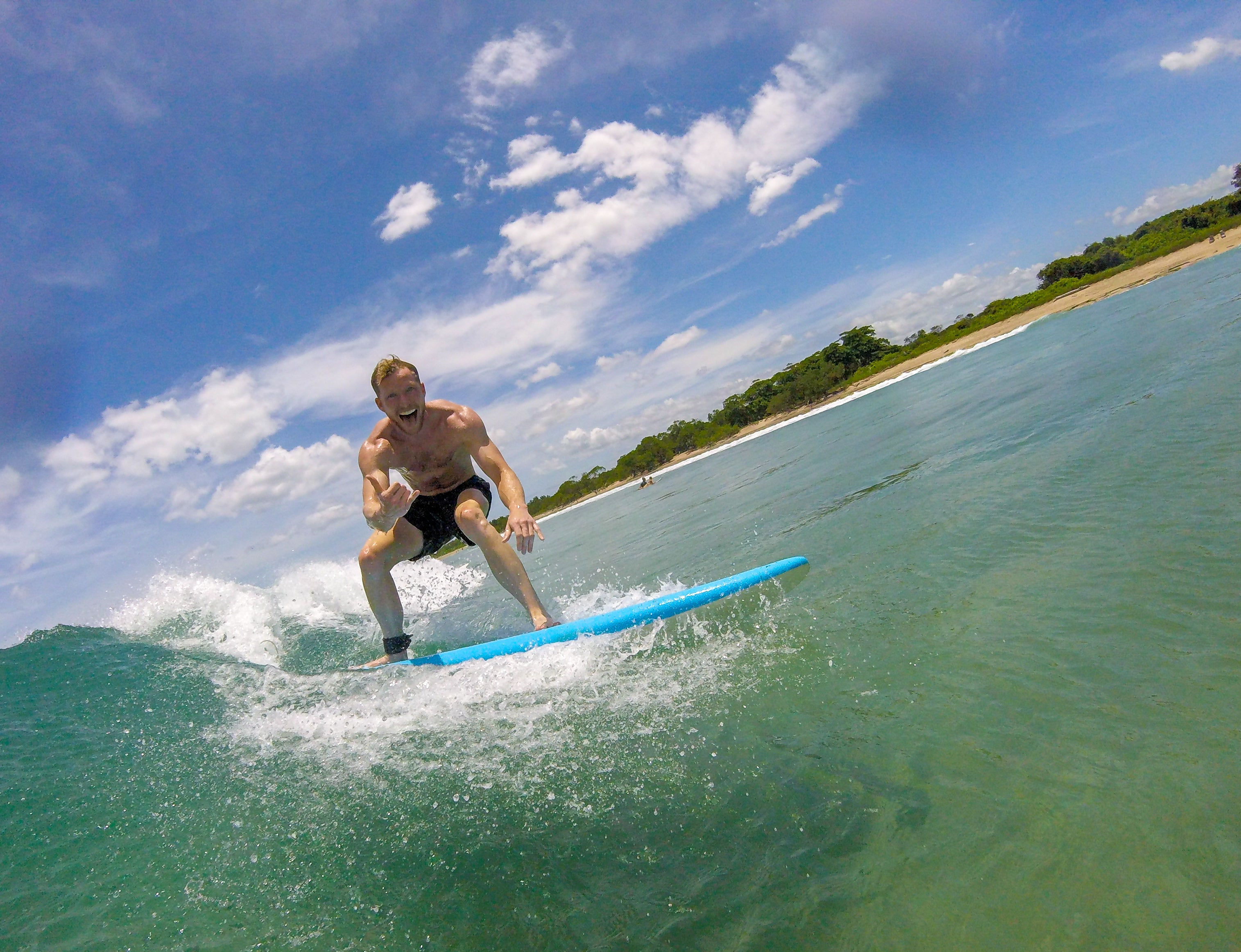 sala verde founder nicholas johnson surfing wave in costa rica