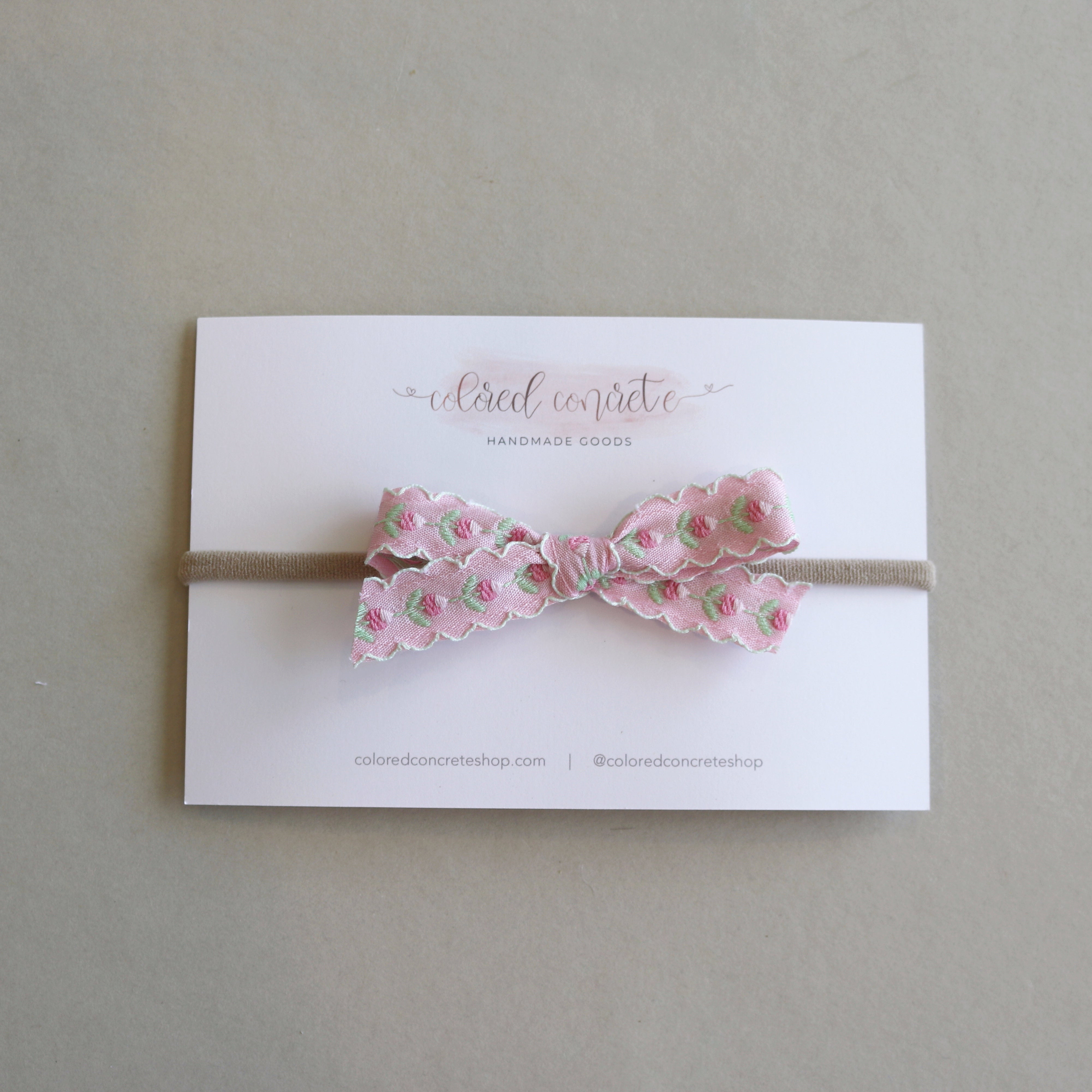 Petite Bow // Pink Tulips