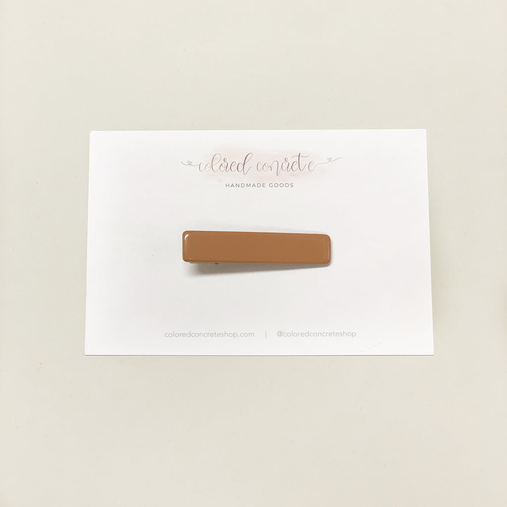 Acrylic Skinny Hair Clip // Dusty Peach