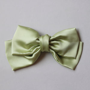 Oversize Silk Bow // Muted Green
