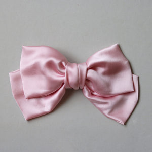 Oversize Silk Bow // Pale Pink
