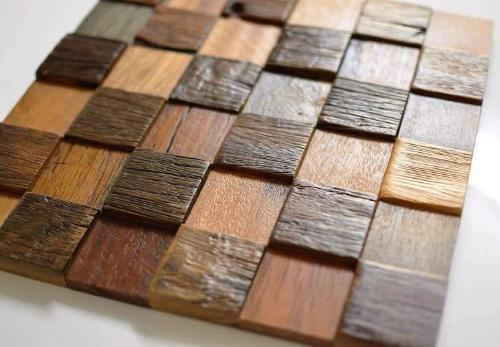Decorative Tiles For Wall 40D Wood Wall Decor Reclaimed Wood Mesmerizing Decorative Wood Wall Tiles